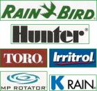 Lawn Sprinkler Suppliers we use: Rain Bird, Hunter, Toro, Irritrol, MP Rotator, K Rain, Buckner, Wilkens, Watts, Action, Amiad, Nelson, Orbits, Weathermatic, Imperial, Ford, Poly, PVC, Netafim